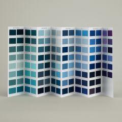 Ressource Farbkarte - blaue Farbtöne