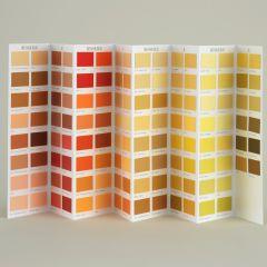 Ressource Farbkarte mit den gelben Farbtönen