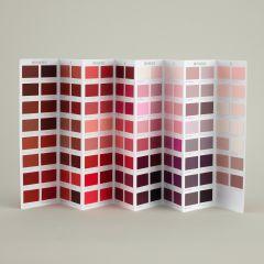 Ressource Farbkarte - Les Rouge - mit roten Farbtönen