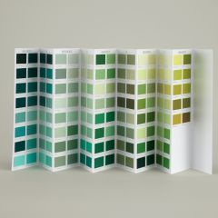 Ressource Farbkarte - grüne Farbtöne