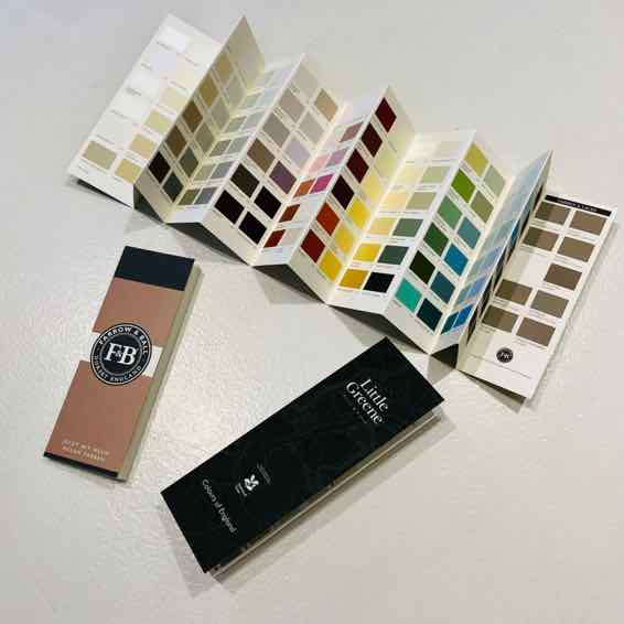 Farbkarte von Farrow and Ball und Little Greene
