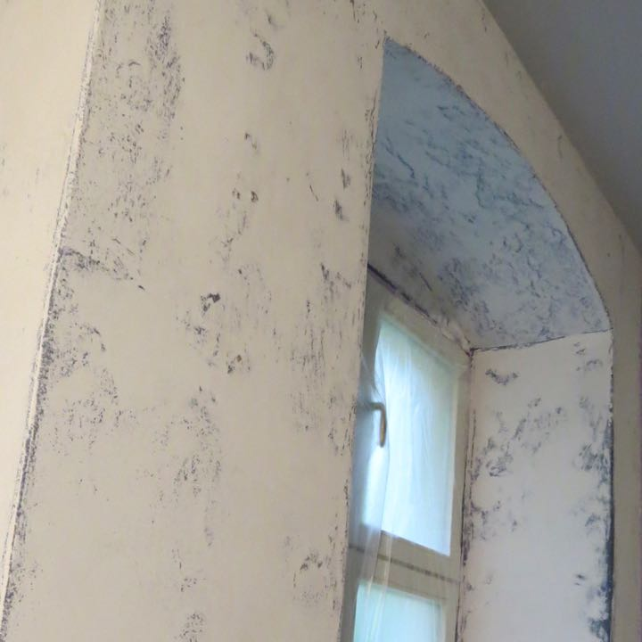 Gespachtelte Wand