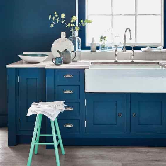 Küche mit Farbe von Little Greene