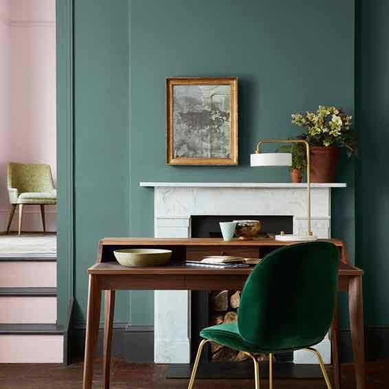 Little Greene Wandfarbe Beispiel