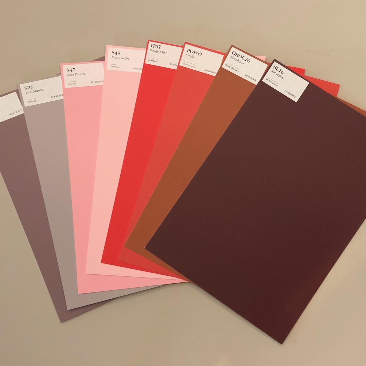 Ressource DIN A4 Muster aus der Farbkarte