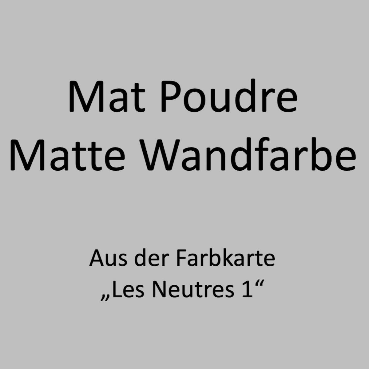 Kategoriebild Ressource Mat Profond - matte Wandfarbe - Les Neutres 1